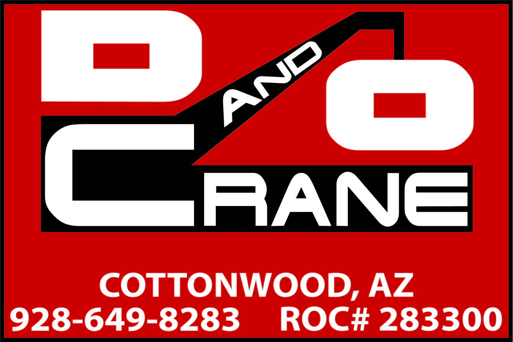 D and O Crane in Cottonwood Arizona
